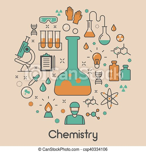 chemistry line art thin vector icons set with dna and vector rh canstockphoto com chemistry clipart black and white chemistry clipart free