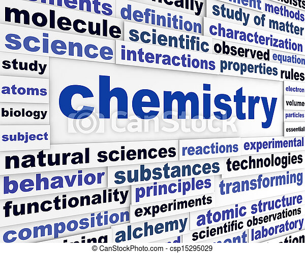 chemistry scientific poster education technological words background