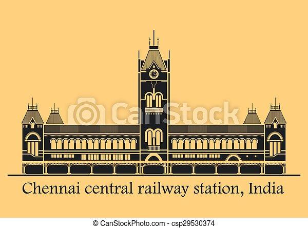 chennai, stazione, centrale - csp29530374