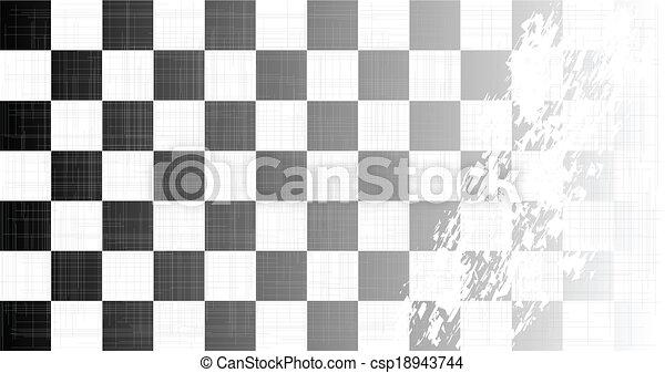 Chequered Flag Grunge - csp18943744