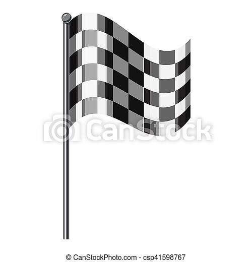 Chequered flag icon, isometric 3d style - csp41598767