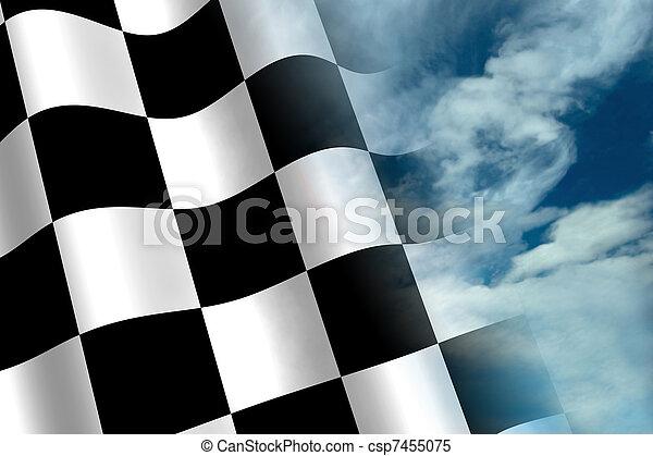 Chequered Flag - csp7455075