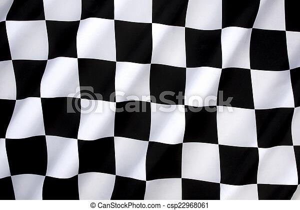 Chequered Flag - Win - Winning - csp22968061