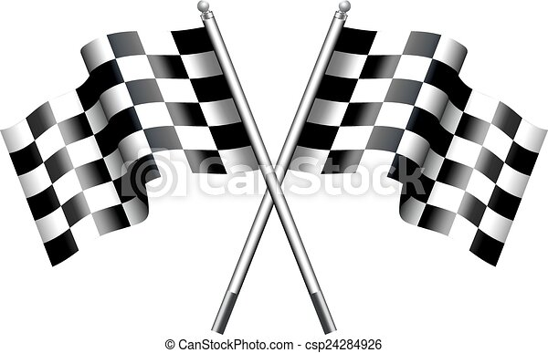 Chequered Flags Motor Racing - csp24284926
