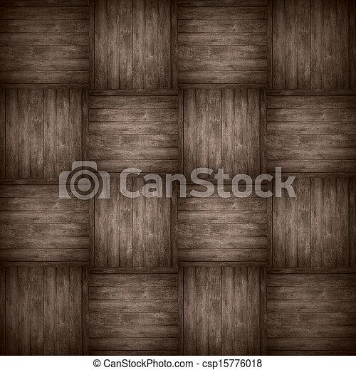 chequered pattern wooden brown background - csp15776018