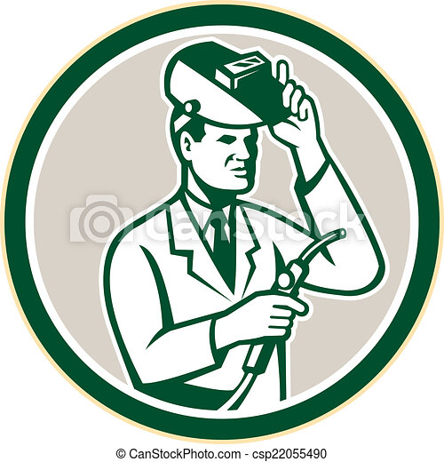 chercheur, laboratoire, scientifique, retro, cercle, soudeur - csp22055490