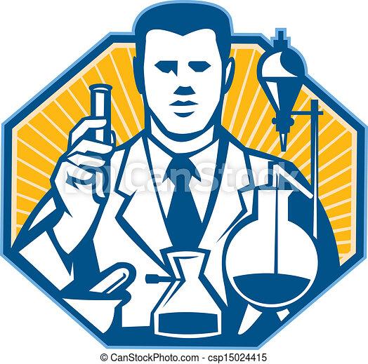 chercheur, scientifique, laboratoire, chimiste, retro - csp15024415