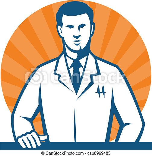 chercheur, technicien, scientifique, laboratoire, cravate - csp8969485