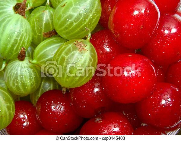Cherries and gooseberries 1 - csp0145403