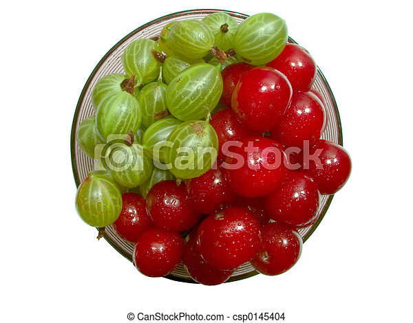 Cherries and gooseberries 2 - csp0145404