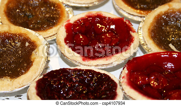 Cherry and butter tarts - csp4107934