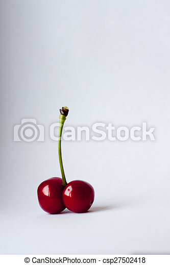 cherry and spine on a white background - csp27502418