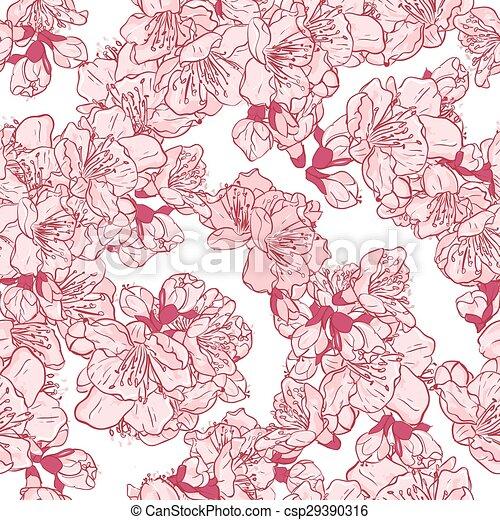 Cherry blossom, sakura seamless pattern.  - csp29390316
