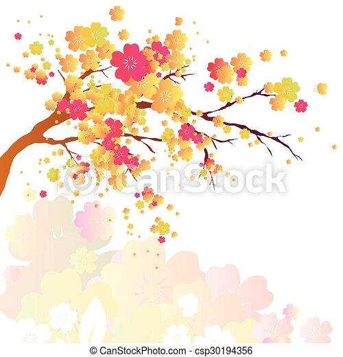 cherry branch - csp30194356