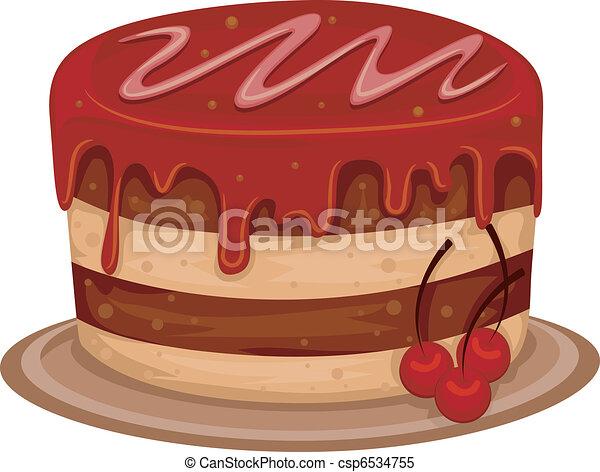 Cherry Cake - csp6534755