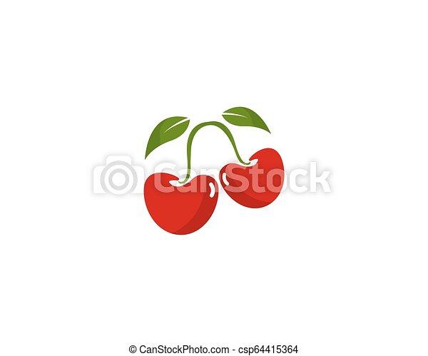 cherry logo vector icon illustration - csp64415364