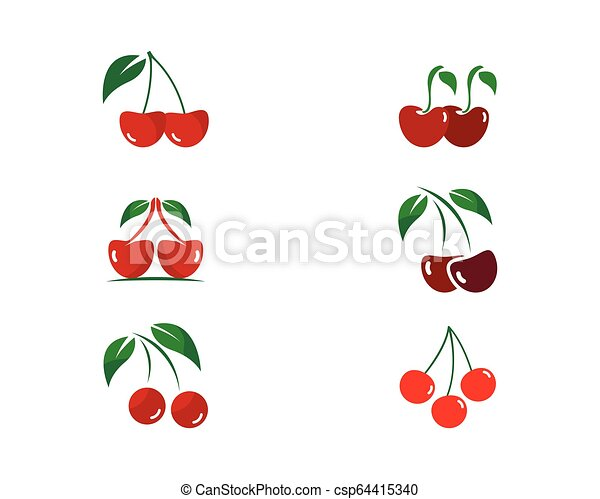 cherry logo vector icon illustration - csp64415340