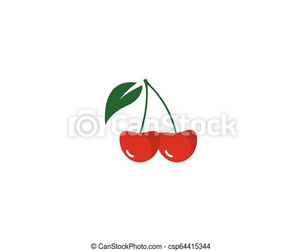 cherry logo vector icon illustration - csp64415344