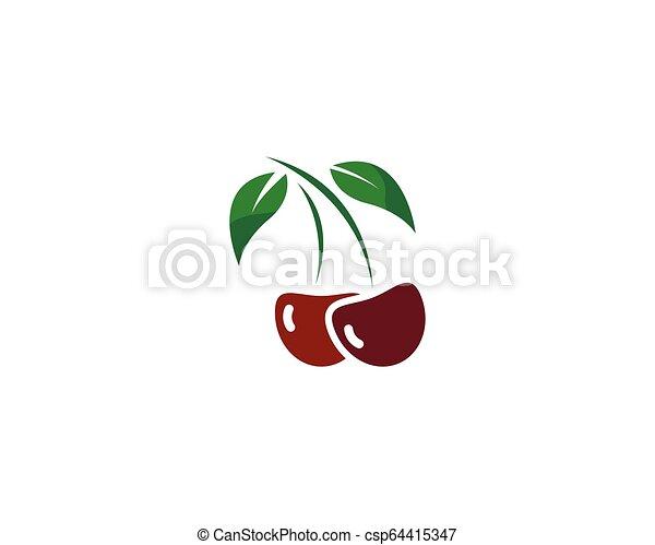 cherry logo vector icon illustration - csp64415347