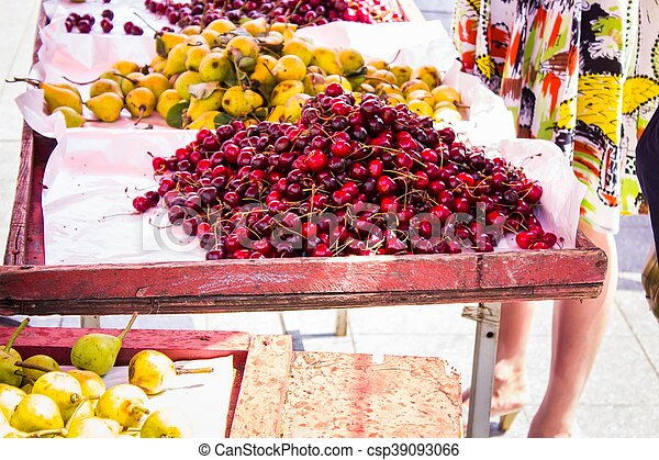 Cherry pear and other summer fruits - csp39093066