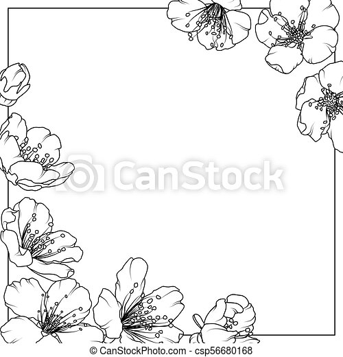 Cherry sakura aliche tree spring flowers frame cherry sakura aliche cherry sakura aliche tree spring flowers frame csp56680168 mightylinksfo