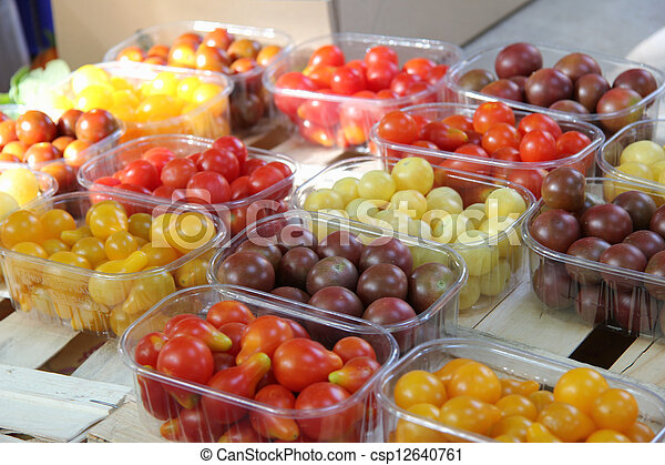 Cherry tomatoes at a French market - csp12640761