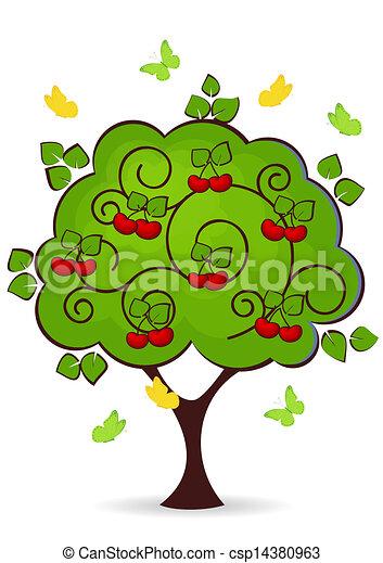 cherry tree - csp14380963