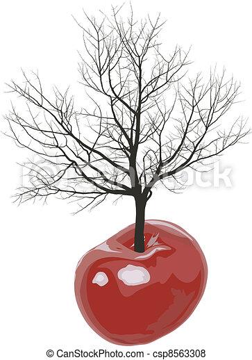 Cherry tree of cherries - csp8563308