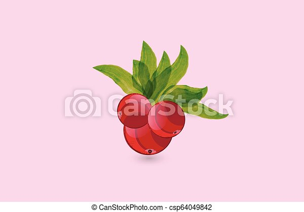 Cherry watercolor logo - csp64049842
