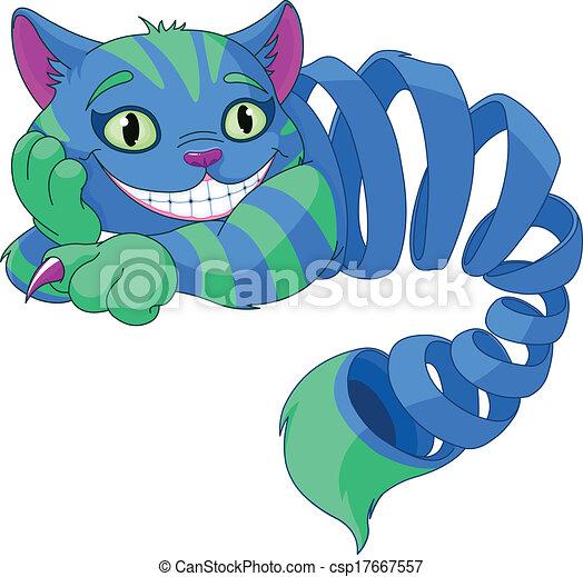 cheshire, sparire, gatto - csp17667557