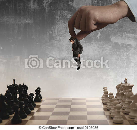 Chess and businessman - csp10103036