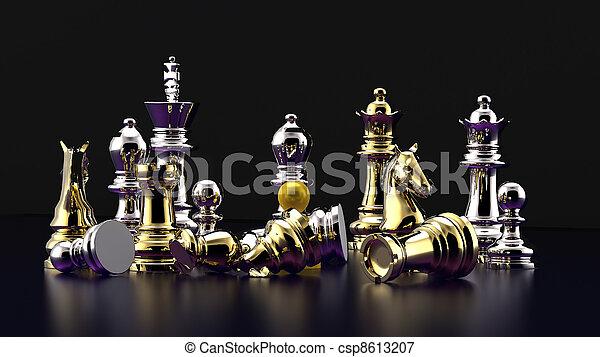 Chess battle -defeat - csp8613207