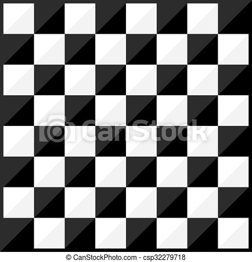 Chess board flat design style - csp32279718