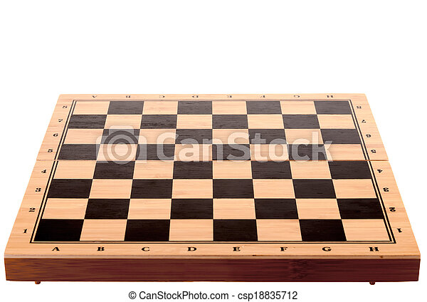 chess board on a white background - csp18835712