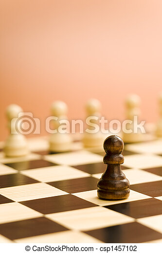 Chess board soldier - csp1457102