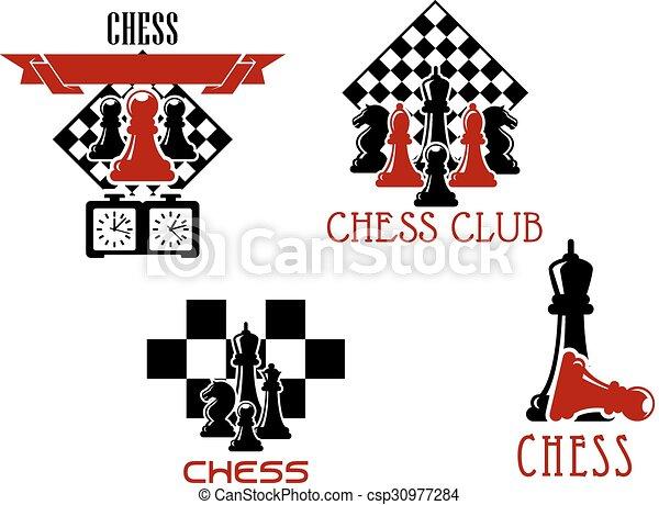Chess club and tournament symbols - csp30977284