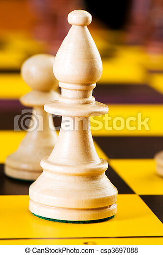 Chess concept with pieces on the board - csp3697088