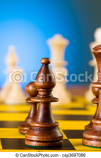 Chess concept with pieces on the board - csp3697086