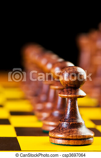 Chess concept with pieces on the board - csp3697064