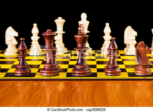 Chess concept with pieces on the board - csp3698529