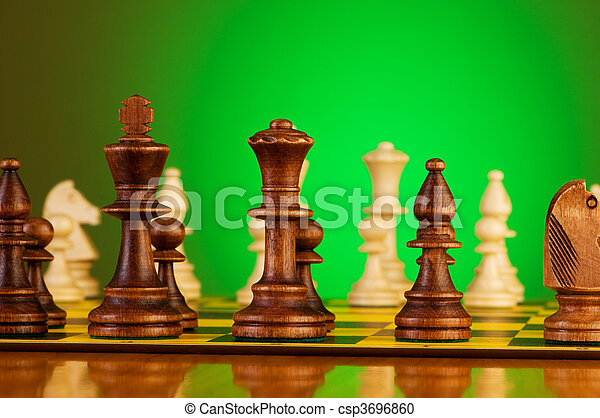 Chess concept with pieces on the board - csp3696860