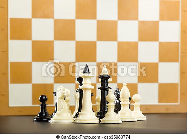 Chess figures  - csp35980774