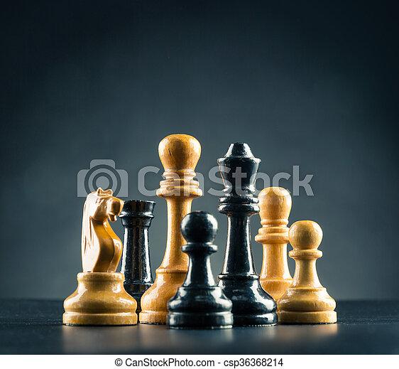 Chess figures  - csp36368214