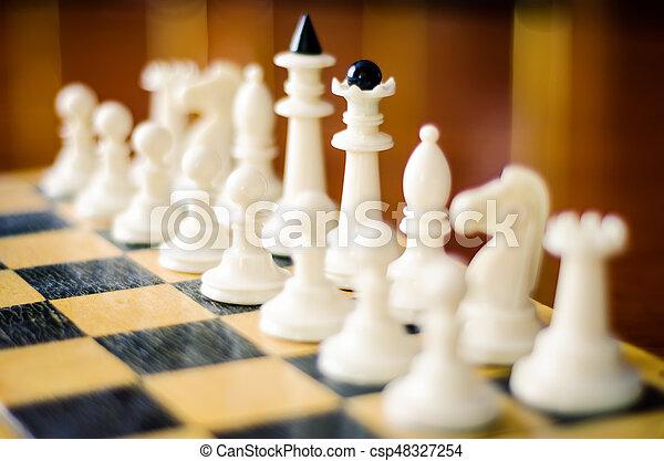 chess figures - csp48327254