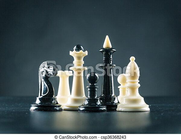 Chess figures  - csp36368243