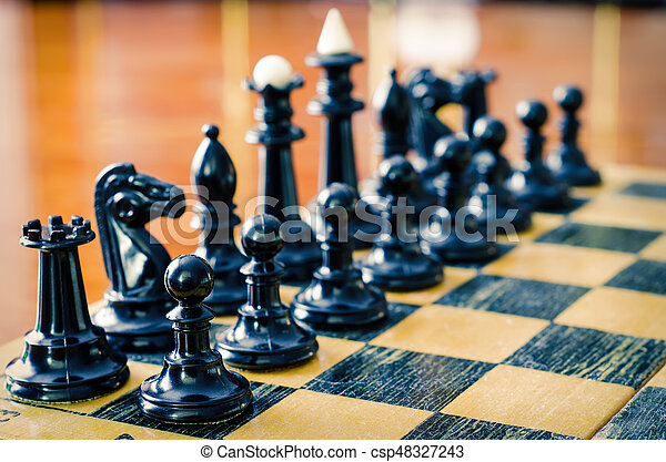 chess figures - csp48327243
