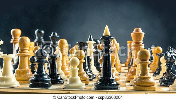 Chess figures  - csp36368204