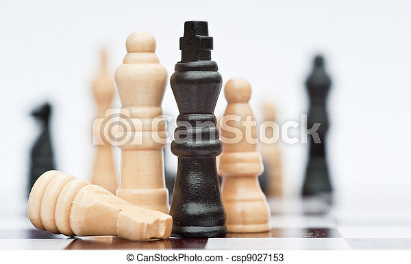 Chess game of strategy business concept application - csp9027153