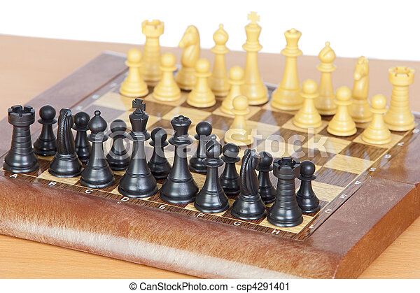 Chess game with all pieces on the board - csp4291401