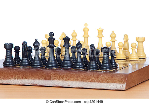 Chess game with all pieces on the board  - csp4291449